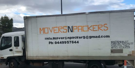 movers and packers truck